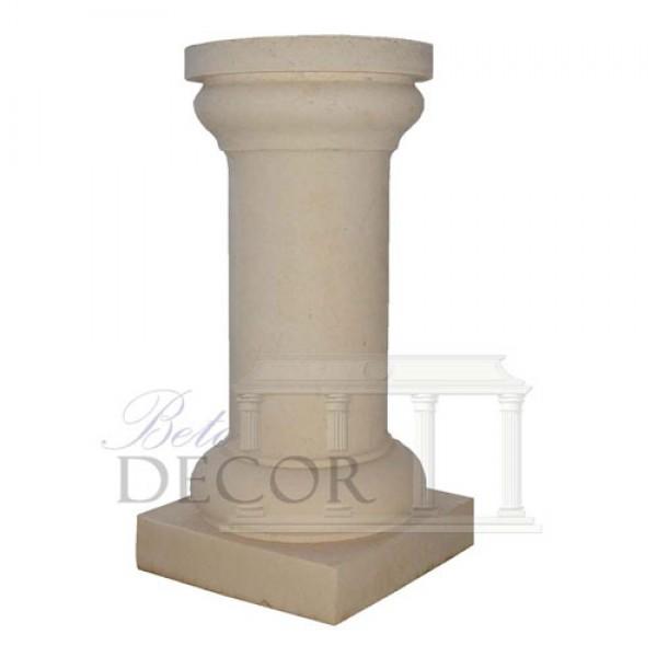 Στρογγυλή κολώνα με κιονώκρανα επάνω-κάτω